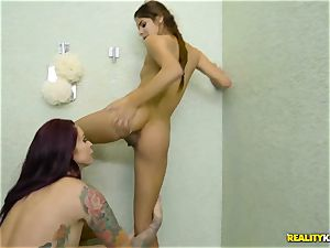 Rich dame Monique Alexander entices the bashful timid latino maid
