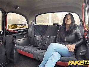 fake cab molten Latina with large bra-stuffers and bum
