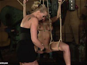 Kathia Nobili enjoy tearing up the steaming doll with dildo