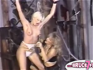 nipple clamped 90s lezzie