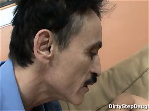 Stepdaughter Kristina Rose Caught daddy witnessing porn