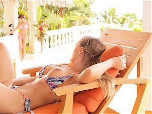 Madison Ivy and Nicole Aniston cooter fun in bikinis