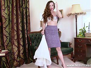 honey unwraps to nylons stilettos to plaything her beaver