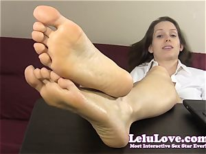 secretary taunts and teases you with her nude feet