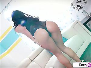 Gina Valentina finger stream her little little humid vagina
