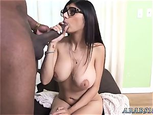 Arab veil and mansion wifey bang Mia Khalifa attempts A thick black spunk-pump