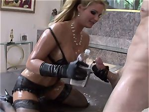 Phoenix Marie get her figure crammed with lube